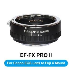 Image 1 - Fringer EF FX2 Pro II פוקוס אוטומטי הר עדשת מתאם מובנה אלקטרוני צמצם עבור Canon EOS סיגמא עדשה כדי Fujifilm FX מצלמה
