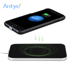Qi Беспроводное зарядное устройство для iPhone 7/7 Plus, в комплекте Qi Беспроводное зарядное устройство Pad+ приемник чехол/задняя крышка