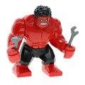 Одной Продажи XH543 SUPER HEROES Мстители Красный Халк Железный Человек DIY Строительные Блоки aciton Цифры Игрушки Подарки X0151