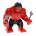 Sola venta xh543 super heroes avengers iron man hulk rojo diy bloques de construcción figuras regalos juguetes aciton x0151