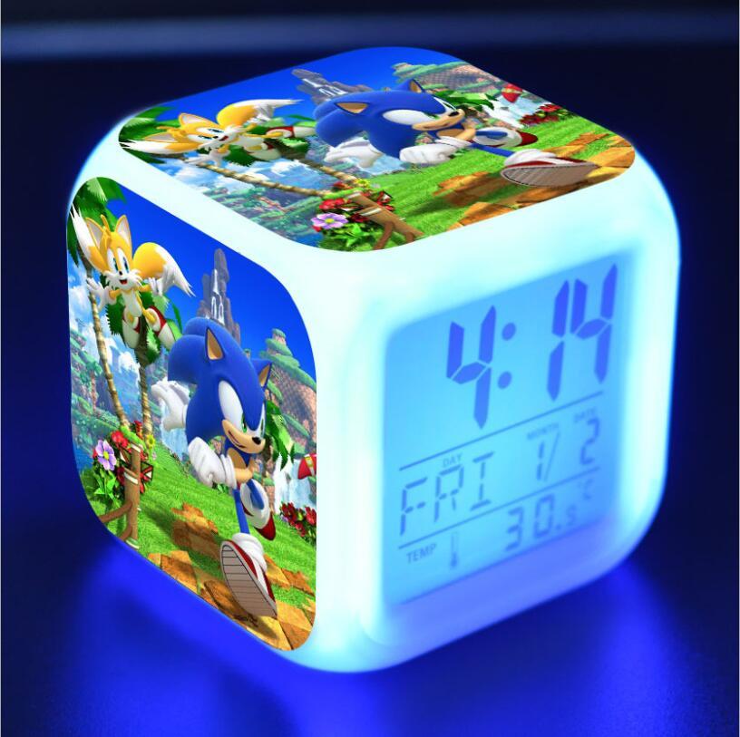 Sonic The Hedgehog LED Cube Alarm Clock 27
