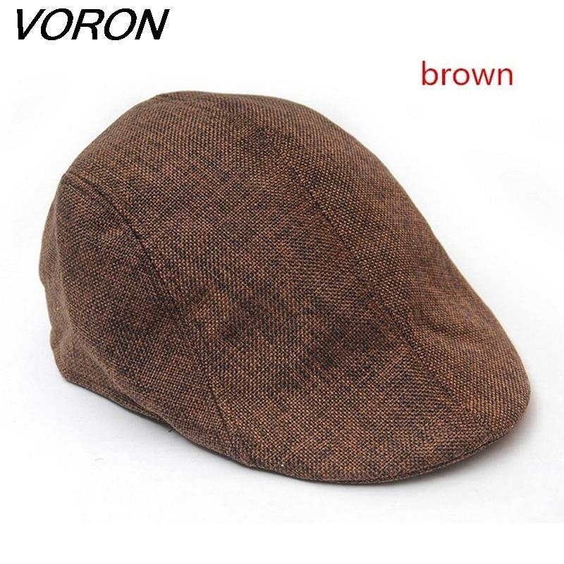 VORON nieuwe zomer baret mannen ontwerp linnen hoed vrouwen herfst en winter baretten comfortabele boinas ademende mesh cap sunbonnet toca