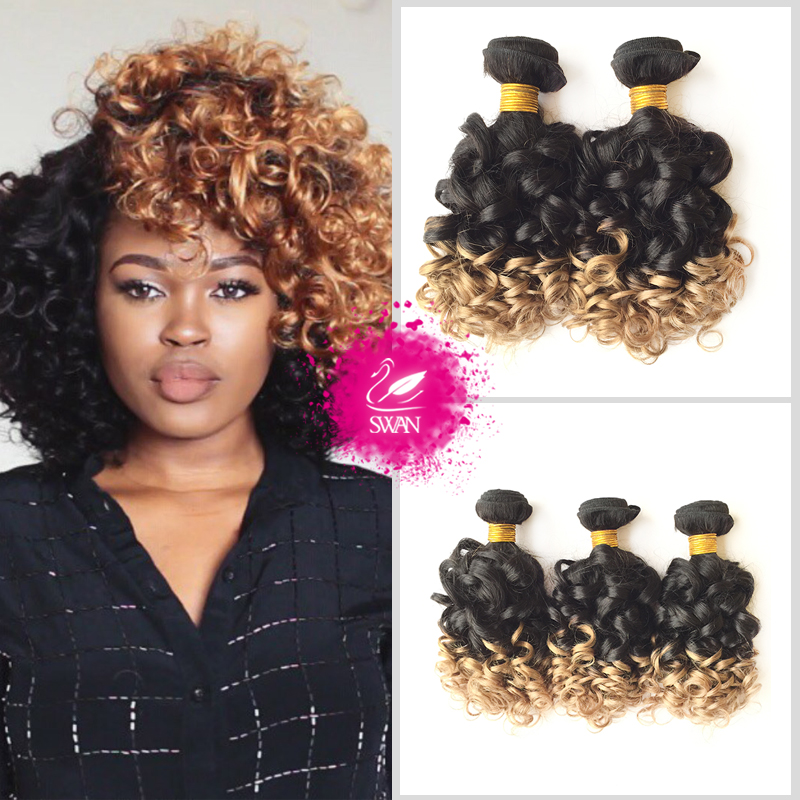 Swan Hair 3 Bundle Indian Spiral Curly Virgin Hair Weave 9a Grade