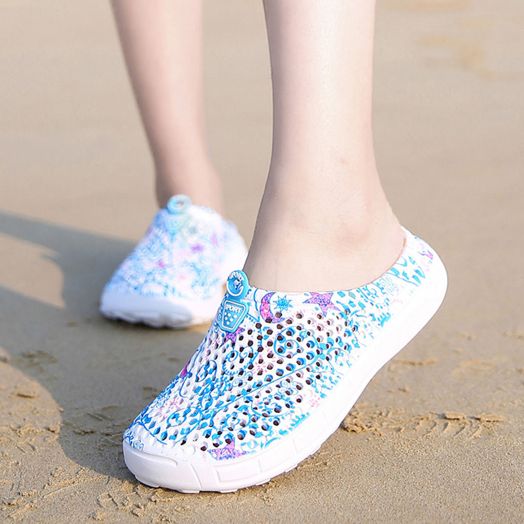 Women Shoes Sandals Slippers Flip-Flops Hollow-Out Flat Breathable De Casual Mujer Zapatos