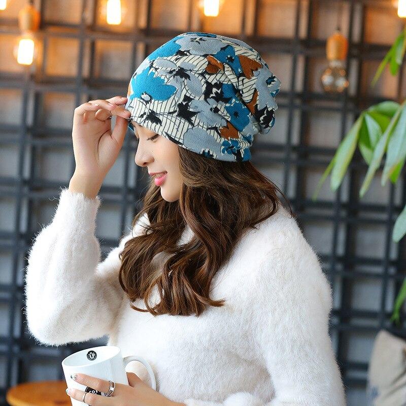 Beautiful Peony Women's Snapback Caps Bonnet Beanies Knitted Hat Cap Soft Skullies Hat Female Warm Windproof Girl Warm Cap 2017 beautiful darkness