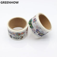 GREENHOW  Japanese Paper Washi tapes Cartoon Girls Rose Flowers Decorative Adhesive Tapes/Masking Tape Stickers 9006 все цены