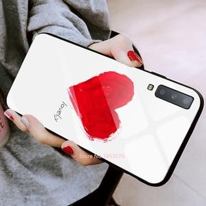 Image 5 - מזג זכוכית טלפון מקרה לסמסונג גלקסי A50 A70 A50S A30S A20 S10e S10 S9 S8 בתוספת A7 2018 הערה 10 פרו 10 בתוספת דפוס כיסוי