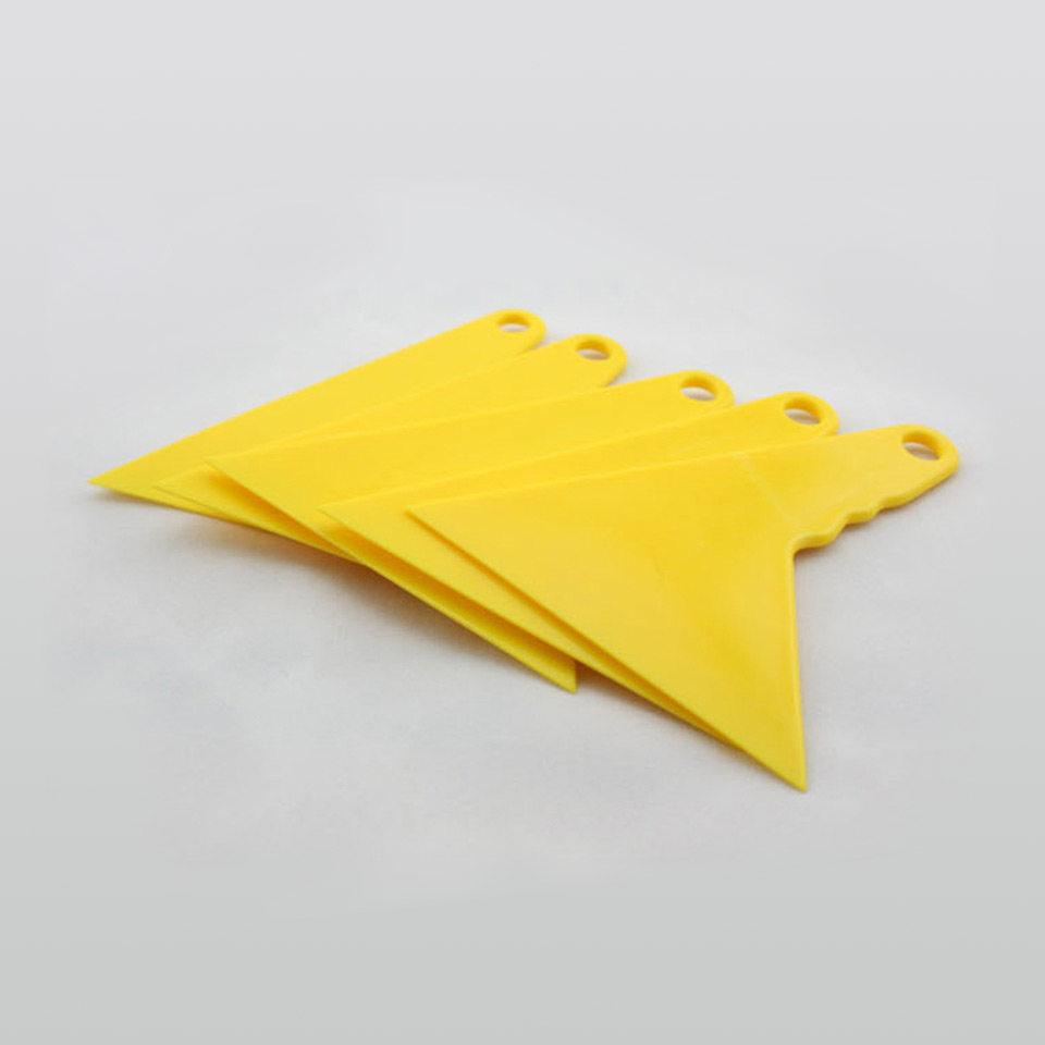Free Shipping 10*13cm Vinyl Application Tool Triangular Yellow Squeegee Car Vinyl Squeegee For Vinyl Wrapping MX-14 Whole Sale
