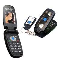MAFAM X6 Débloquer prix Bas de bonne qualité super petit quad-bandes supercar Spécial mini cellulaire mobile téléphone de voiture clé téléphone portable P034