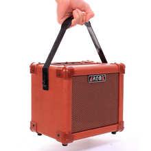 цена на AROMA AG-10A Acoustic Guitar Amplifier Portable Guitar Amp Speaker 10W with Microphone Interface Audio Input