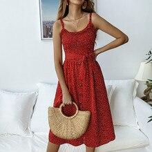2019 New Women Summer Dress Sexy Sleeveless Casual Ruffles Flower Beach Sun Long