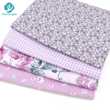 Mensugen 4pcs/lot 40cm*50cm Twill Cotton Fabric Patchwork Foral Tissue Cloth Of Handmade DIY Quilting Sewing Baby&Children Sheet(China)