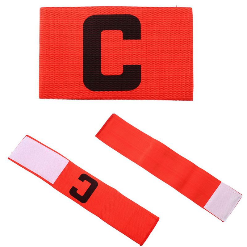 Hot Football Soccer Flexible Football Accessory Sports Adjustable Player Bands Fluorescent Captain Armband Football Training