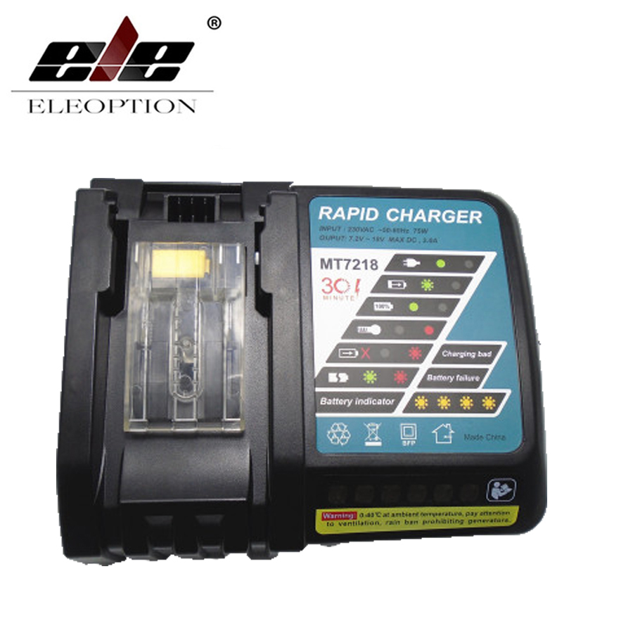 7.2V-18V Power Tool Li-Ion Battery Charger Replacement for Makita 7.2V to 18V BL1830 BL1815 BL1430 DC14SA DC18SC DC18RC DC18RA dawupine dc18rct li ion battery charger 3a 6a charging current for makita 14 4v 18v bl1830 bl1430 dc18rc dc18ra power tool