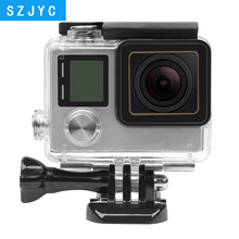 JYC 30M Waterproof Case for GoPro Hero 4 3+ Black Silver Action Camera with Bracket Protective Housing Go Pro Accessory