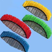 2.5m Dual Line 4 Colors Parafoil Parachute Sports Beach Kite Easy To Fly Outdoor Foldable Children's Kite With Control Bar Line