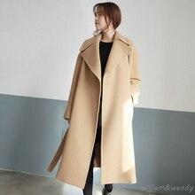 Women Cashmere Palto Plus Big Size Down Coat Winter Autumn Warm Wool Jacket Cardigan Maxi Long Coat Korean Cloak Woolen Overcoat