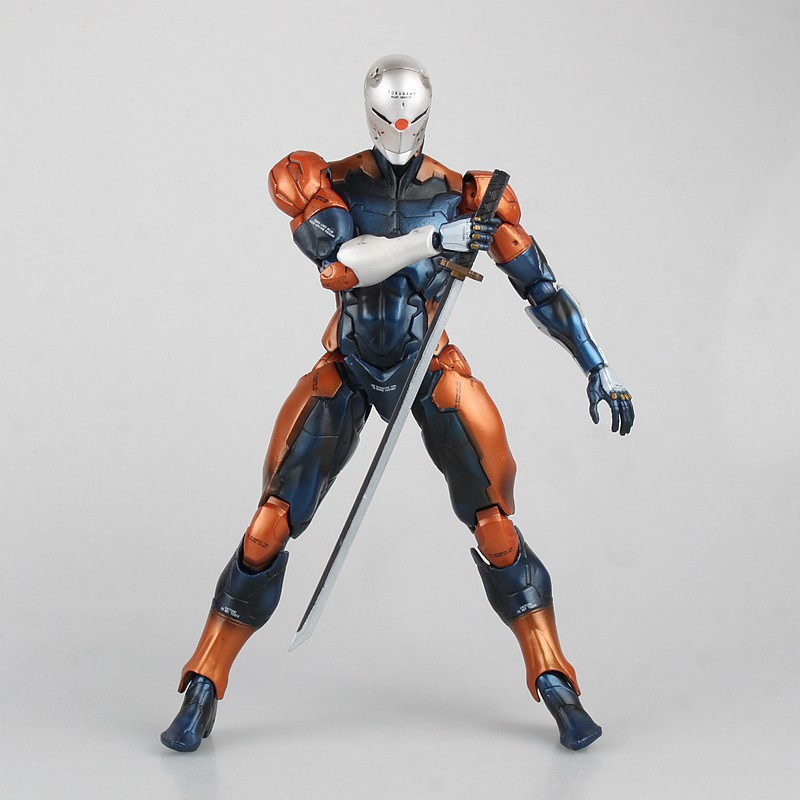 Play Arts Kai Metal Gear Solid Cyborg Ninja Gray Fox Game PVC Action Figure Resin Collection Model Toy Gifts metal gear solid v the phantom pain play arts flaming man action figure super hero