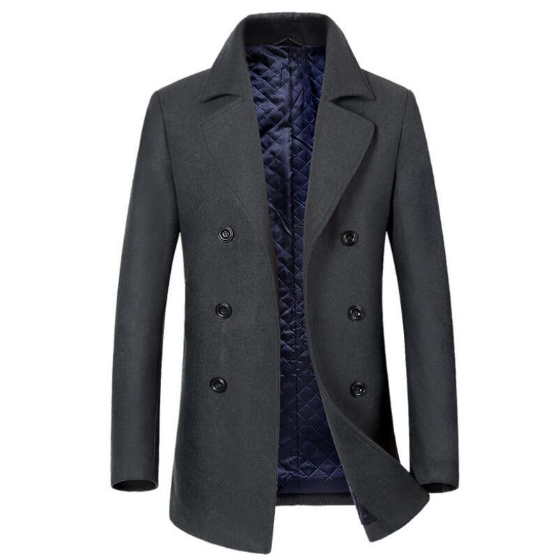 Winter Jacket Men Mens Fashion Casual Business Winter Dress For Men Plus Size Cashmere Coat Men