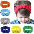 Newborn Baby Headband Solid Color Knot Hair Bands Elasticity Hairbands 100%Cotton Baby Girls Headband Hair Accessories For Girls