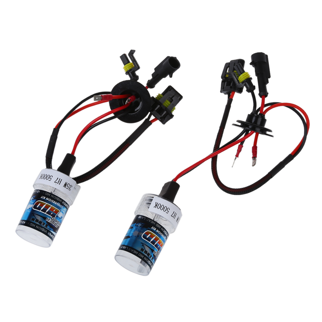 2x xenon HID Kit Car Auto Headlight Light Lamp Bulb For H7 35W DC 12V H7-5000K d1 d2 d3 d4 d1s led canbus 60w 8400lm car bulb auto lamp headlight fog light conversion kit replace halogen and xenon hid light