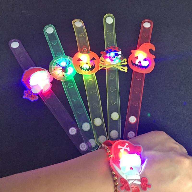 24pcs / lot Flash LED İşıqlandırma Uşaqlar Qolbaq Bilək Qrupu - Şənlik aksesuarları - Fotoqrafiya 3
