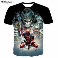 3D Print Marvel Movie Deadpool Skull T shirt Men/Women Casual Tshirt T-shirt 2019 Cool Boy Hiphop Clothing Camiseta hombre 6XL