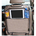 BreaDeep New Design! Environmental Thicken PVC Car Back Seat Protector Kick Mat With Organizer For iPAD 2/3/4/Air/Mini