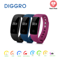 Diggro ID107 Heart Rate Smart Bracelet Wireless Bluetooth Watch Pedometer Sedentary Sleep Monitor Remote Capture for Android iOS