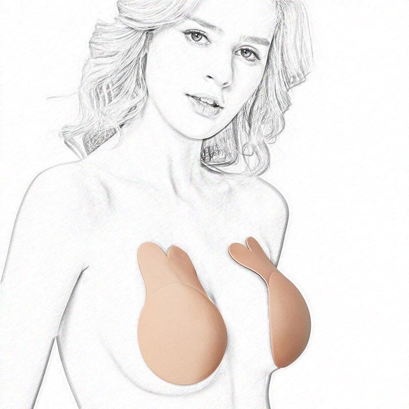 Новая лента для подтяжки груди, женские самоклеющиеся силиконовые наклейки на соски, пуш ап бюстгальтер, укороченный топ, Сексуальное белье аксессуары, 1 пара-in Нижнее белье и аксессуары from Нижнее белье и пижамы on AliExpress - 11.11_Double 11_Singles' Day