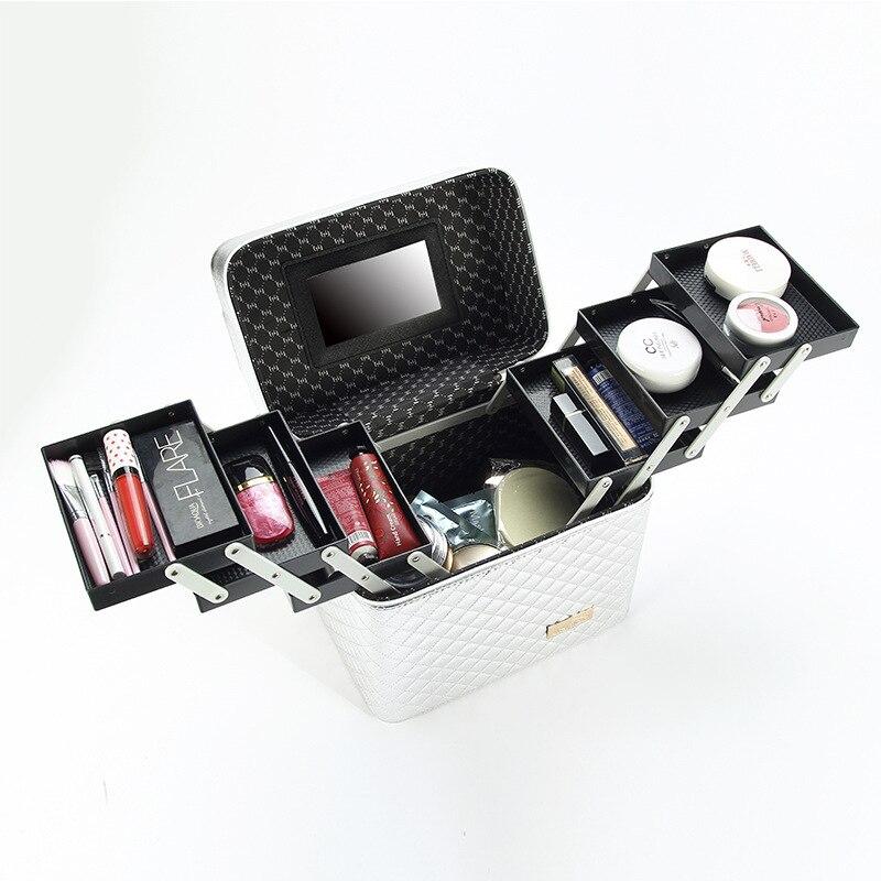 Portable Makeup Bag Large Capacity Fashion Printing Makeup Box Hand-held Professional Makeup Bag for Woman