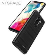 NTSPACE Case For Xiaomi Pocophone F1 Case Shockproof Cover Carbon Fiber Soft TPU Silicone Back Cover Cases For Poco f1 Bumper for xiaomi pocophone f1 case slim skin matte cover for xiaomi f1 pocophone f1 case xiomi hard frosted cover xiaomi poco f1 case