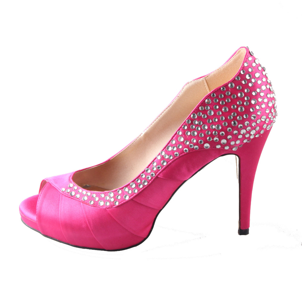 Compare Prices on Hot Pink Rhinestone Heels- Online Shopping/Buy