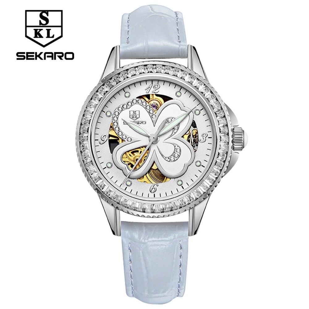 2017 New SEKARO Design Fashion mechanical Luxury Brand font b Watches b font font b Women