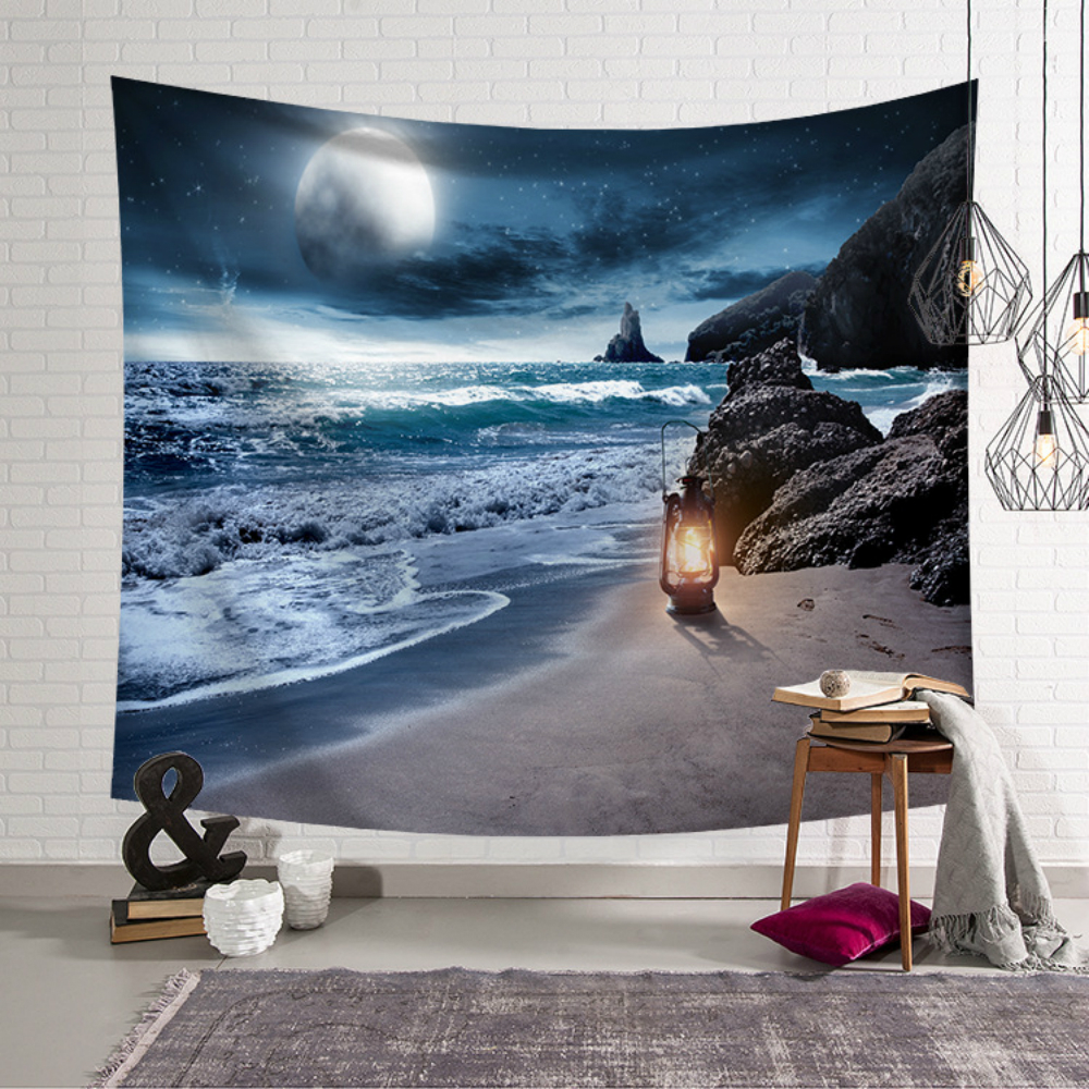 3D Galaxy Psychedelic Tapestry Wall Hanging Planet Space Art Polyester Cloth Tapestry Hippie Wall Decoration Beach Towel in Tapestry from Home Garden