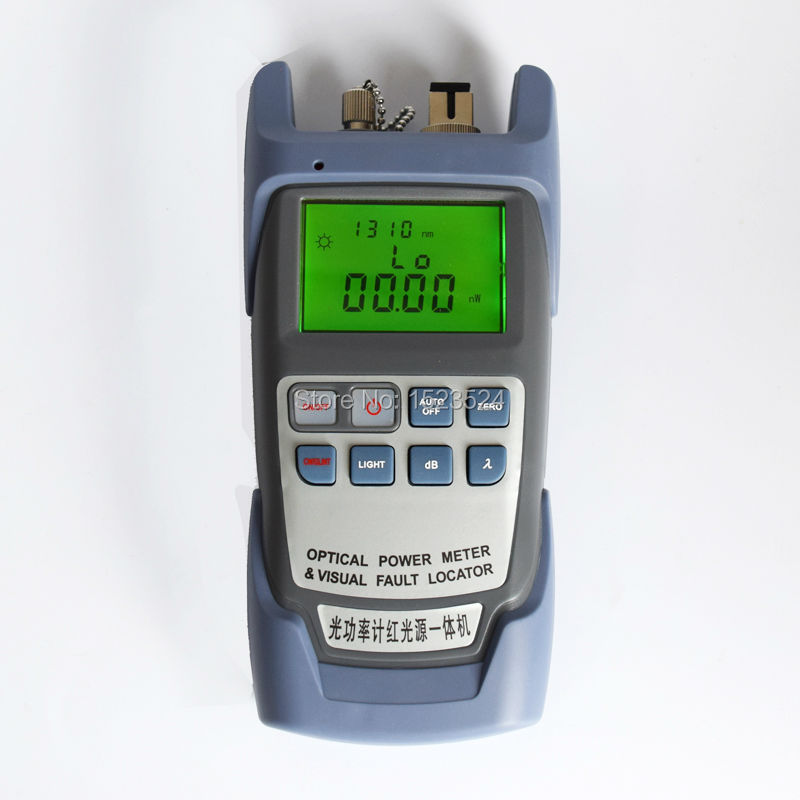 All in One Optical Power Meter -70~+10dBm and Fiber Optic Cable Tester Visual Fault Locator 1mw