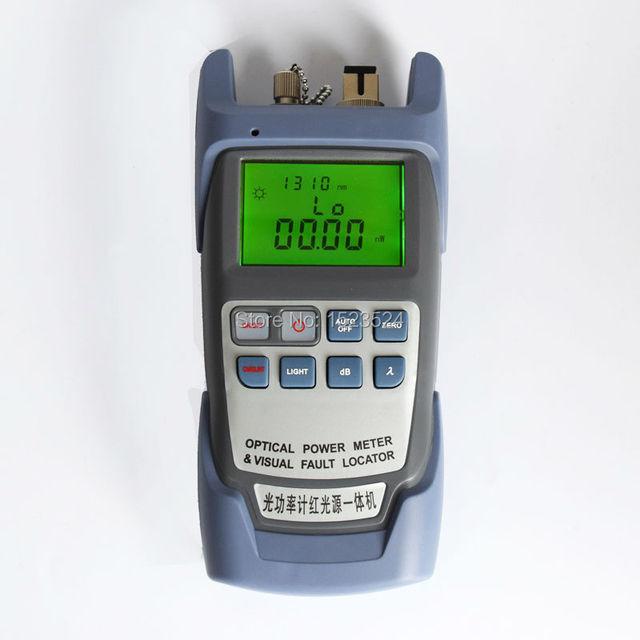 Todo en Un Solo Medidor de Potencia Óptica-70 ~ + $ number dbm y Visual Fault Locator Fiber Optic Cable Tester 1 mw