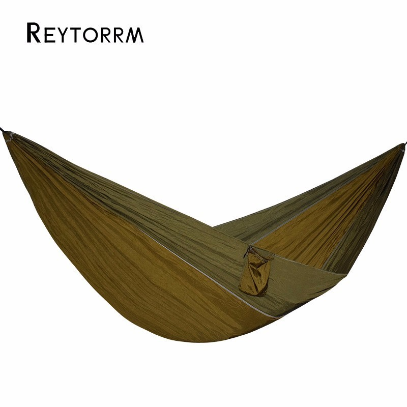 1-2 Person Camping Hammock Parachute Outdoor Travel Backpacking Beach Hamak Hanging Bed 450 Lbs Can Be Used To 2 people portable parachute hammock outdoor survival camping hammocks garden leisure travel double hanging swing 2 6m 1 4m 3m 2m