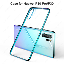 Get more info on the Ultra Thin Fashion Soft Silicon Clear Transparent Phone Case for Huawei P30 Pro 3D Laser Plating Luxury Cover For Huawei P30