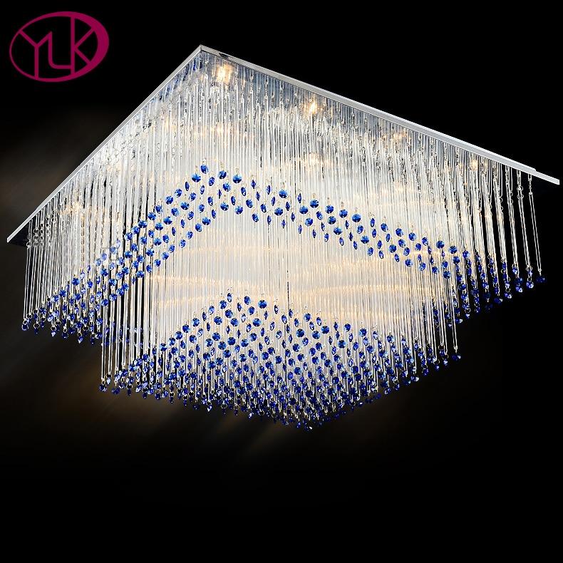 Moderne Quadratische Kristalldeckenlampe LED Lampen Restaurant Wohnzimmer Niedrigen Power Cristal Deckenleuchten Led Glanz Licht