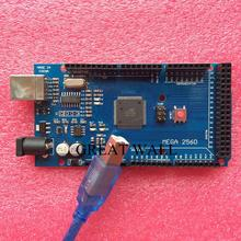 CH340G Mega 2560 R3 Mega2560 REV3 ATmega2560-16AU Board + USB Cable compatible for arduino xindai