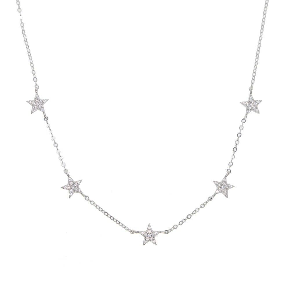 2019 regalo Di Natale vermeil 925 sterling silver carino stella choker di fascino collane di charme monili delle donne sottile collana in argento