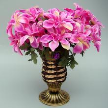 Europa Rattan Vase Kleine Blume Ablagekorb Garten Party Dekoration Tisch Künstliche Blumenvase Hochzeit Deco Wicker Vase