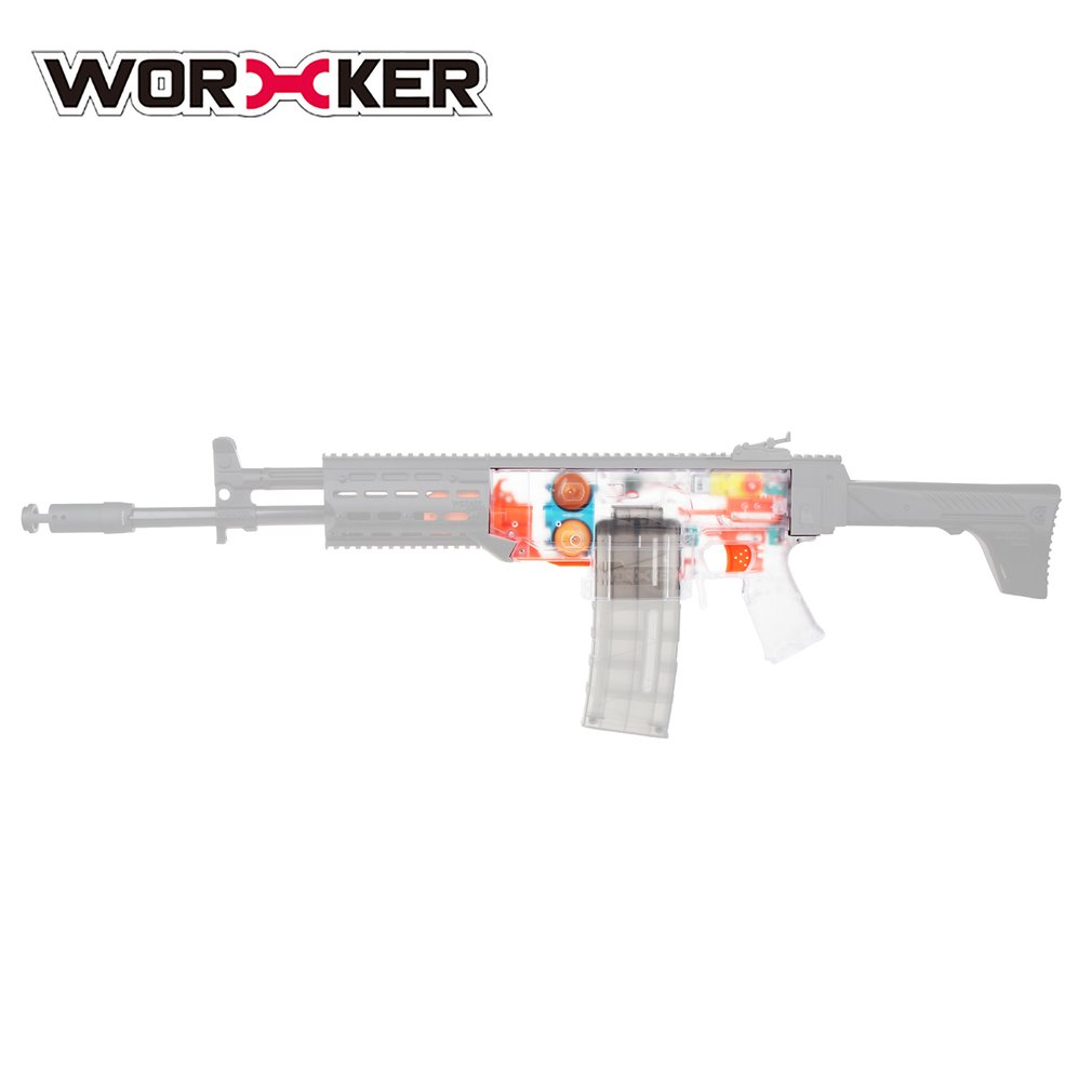 WORKER Toy Gun Transparent Shell Blaster Body DIY Parts For Nerf Gun Modification DIY Set Toy Gun Accessories for Swordfish New worker transparent shell blaster body diy parts for nerf gun modification diy set toy gun accessories for swordfish