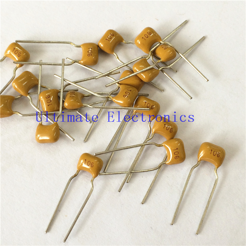 100pcs/lot  Multilayer Ceramic Capacitor 10uF 106 50V 106M  P=5.08mm