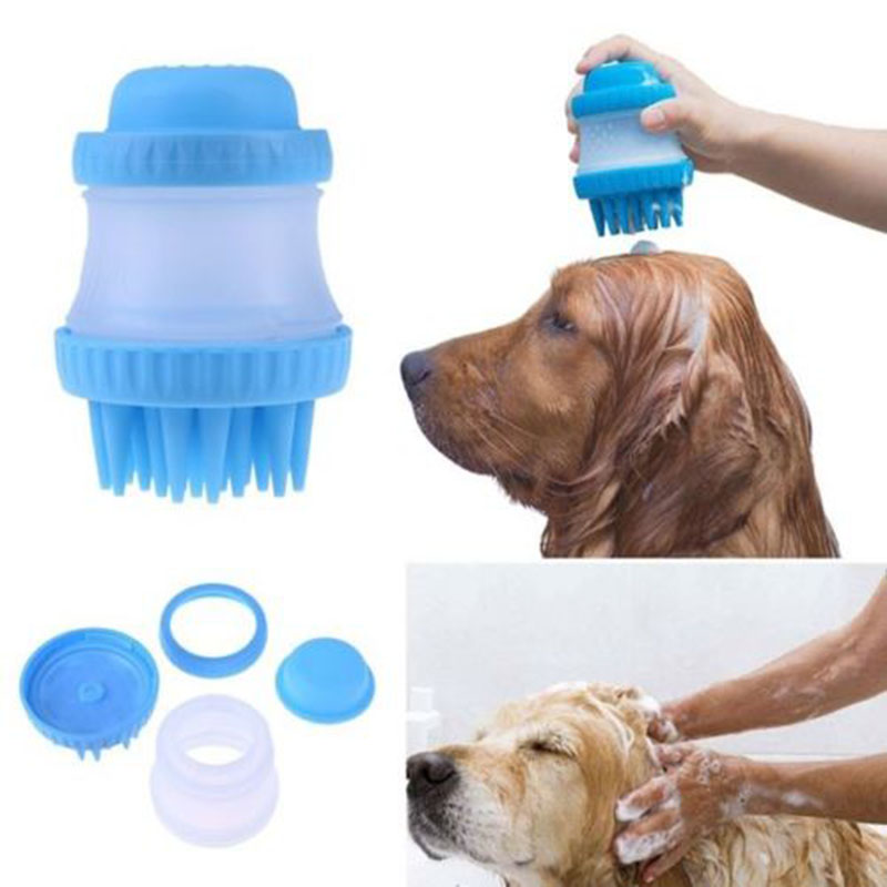 Pet Scrubber Soft Rubber Pet Bath Brush Massage Comb Bathing Tool Fast Washing Tool for Dogs Cats Pet Grooming Cleaning Supplies