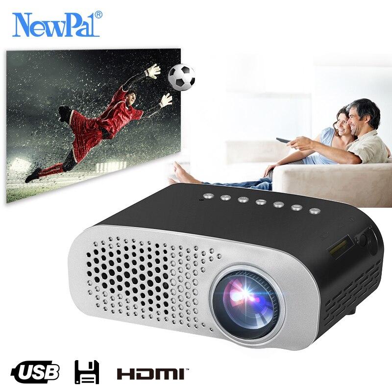 Newpal светодио дный светодиодный проектор GP802A домашний мультимедийный проектор для детей 1920 * мини-экран Full HD Поддержка SD HDMI USB