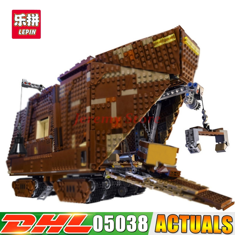 2017 IN STOCK 05038 3346Pcs Star Force Awakens Sandcrawler Wars Model Building Kit Blocks Brick lepin DIY Toys Compatible 75059 lepin 05035 star wars death star limited edition model building kit millenniums blocks puzzle compatible legoed 75159