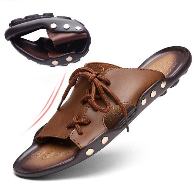 Casual hommes sandales pantoufles chaussures d'... gecqGo