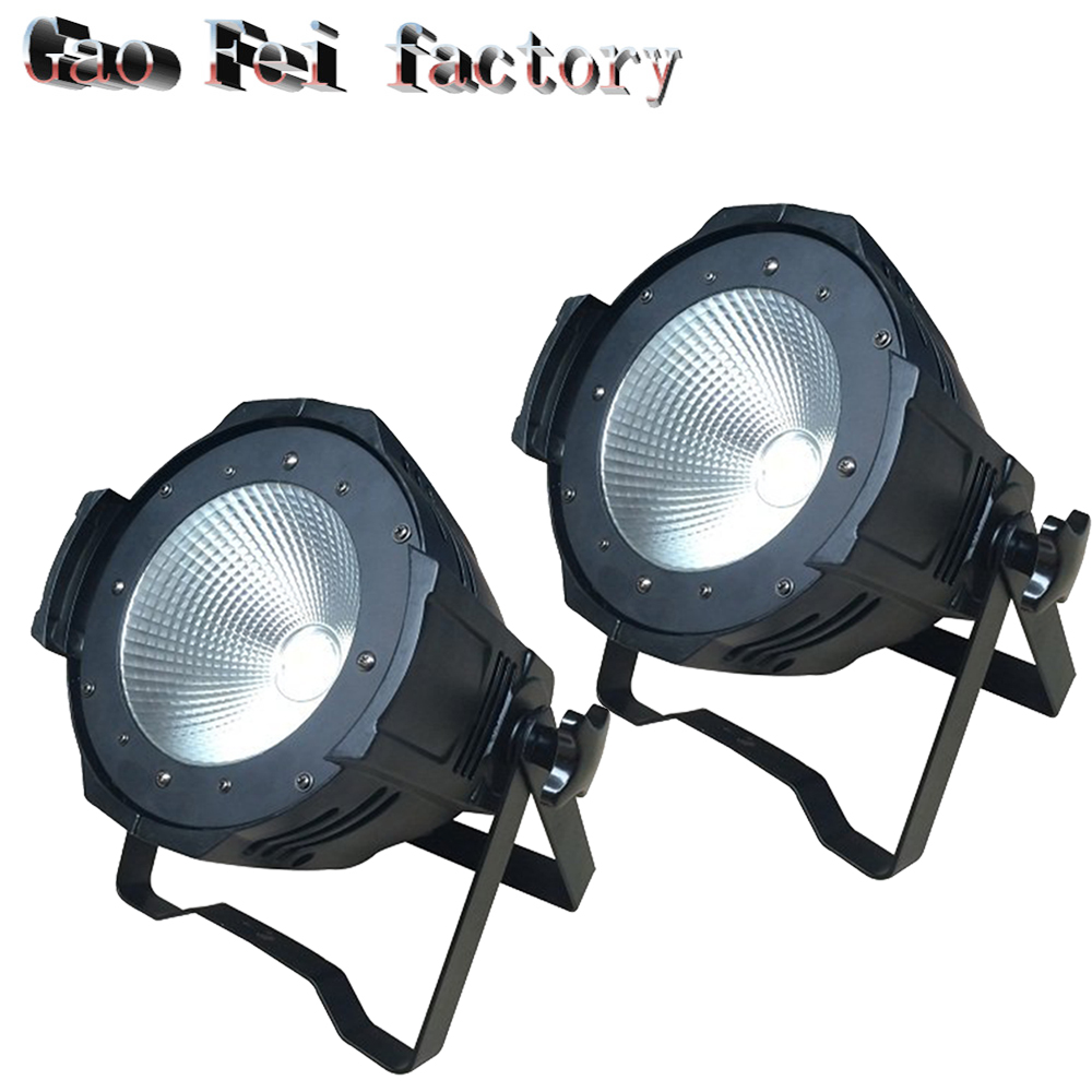 все цены на 2pcs/lot Stackable 2in1 100W Led COB Par Light 4IN1 Studio Theater Washer Projector DMX Control Led Stage Lights онлайн